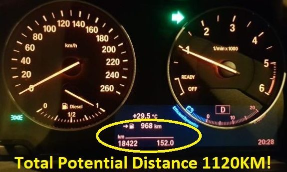 BMW 116 After 1 Full Tank
